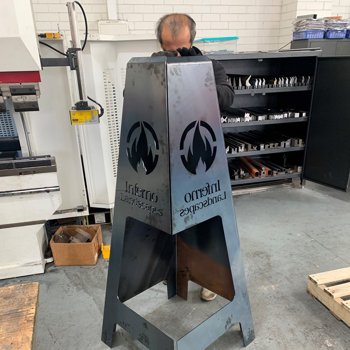 custom made CNC laser cut and folded metal product